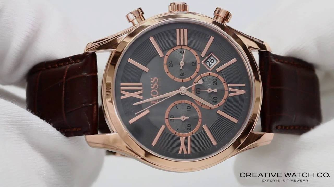 d35d01e5b9124d Hugo Boss Jet Rose Chronograph Men39s Watch Kmg t