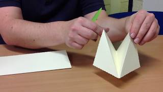 How to make a pirate hat - card fold