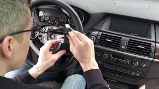 BMW X6 Ремонт пластика на руле