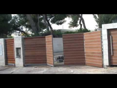 סופר שערים חשמליים - שער לבית - שער מתקפל בטכניקה חדשה - YouTube YK-57