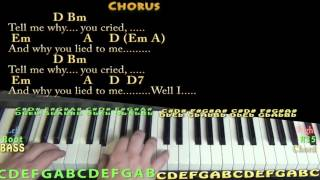 Tell Me Why (The Beatles) Piano Lesson Chord Chart with On-Screen Lyrics