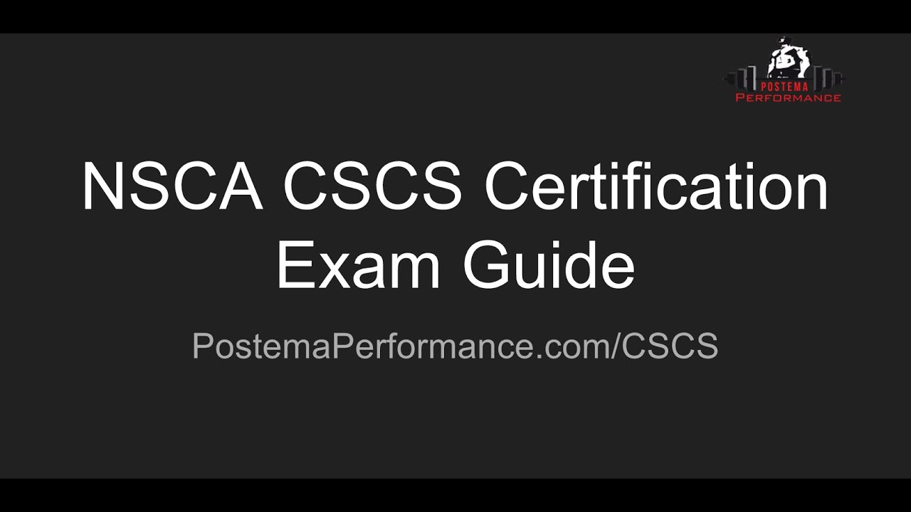 Nsca cscs certification exam guide youtube nsca cscs certification exam guide 1betcityfo Gallery