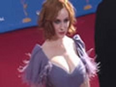 Christina Hendricks dare to bare dress!!