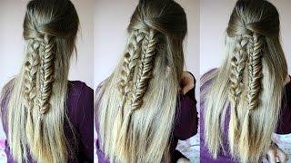 Pretty Braided Half Up Half Down Hairstyle | Half Up Hairstyles | Braidsandstyles12