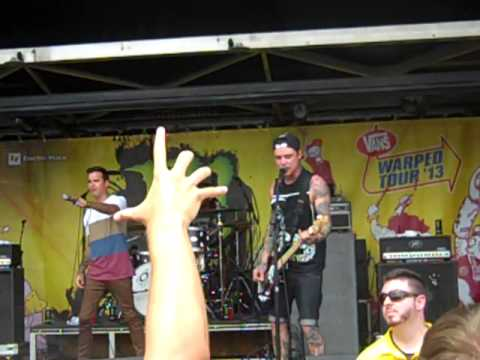 The Amity Affliction - Anchors (Live, Warped Tour 2013. Indianapolis, Indiana)