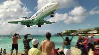 CLOSE CALL at Maho Beach with live ATC. Princess Juliana, St Maarten (UnEdited)