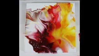 (255) Chakra Colors, Dutch Pour Fluid Art Technique