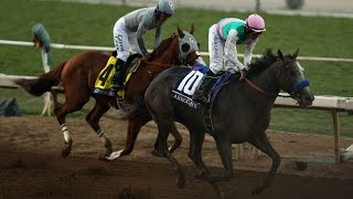 Arrogate wins the Breeders' Cup Classic from California Chrome