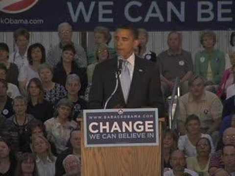 Barack Obama on Iraq in Rapid City, SD
