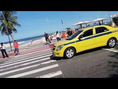 Copacabana beach  beauties walking tour.  Rio De Janeiro Brazil