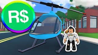 SPENDING ROBUX ON ROBLOXIAN HIGH SCHOOL HELICOPTER!! (Roblox)