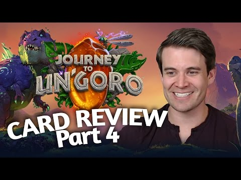 (Hearthstone) Journey To Un'Goro: Card Review Part 4 - Priest, Paladin, Rogue