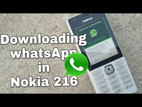 Downloading WhatsApp in Nokia 216 (Nokia phones) in Hindi.
