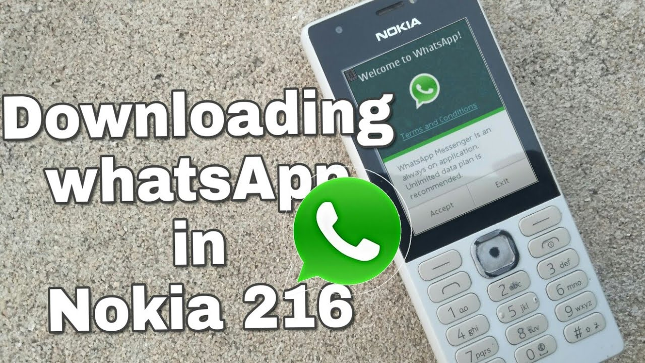 Downloading WhatsApp in Nokia 216 (Nokia phones) in Hindi