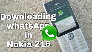 Downloading WhatsApp in Nokia 216 (Nokia phones) in Hindi.