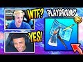 NINJA & MYTH REACT TO *NEW* PLAYGROUND MODE/LTM! Fortnite SAVAGE & FUNNY Moments