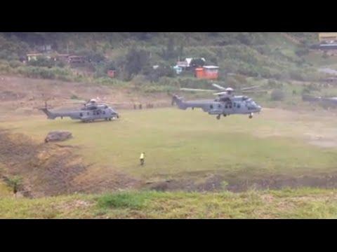 Eurocopter EC725 Royal Malaysia Airforce RMAF (TUDM) at Kundasang Field, Ranau, Sabah