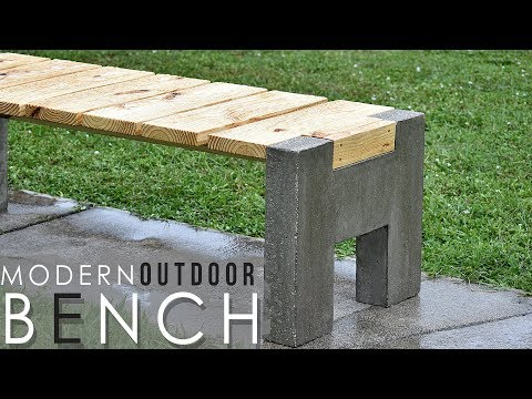 Making today's outside concrete timber BENCH