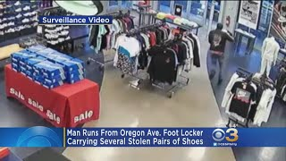 Police: Man Runs From Foot Locker After Stealing Several Boxes Of Shoes