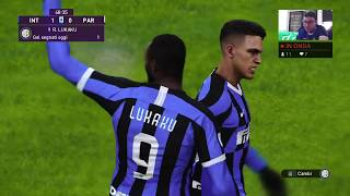 Gameplay Pronostico  Inter-parma  Serie A  Pes 2020 Datapack 2.0/ Ps4