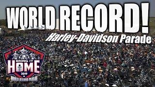 Harley-Davidson World Record Parade - Paris Texas 2019