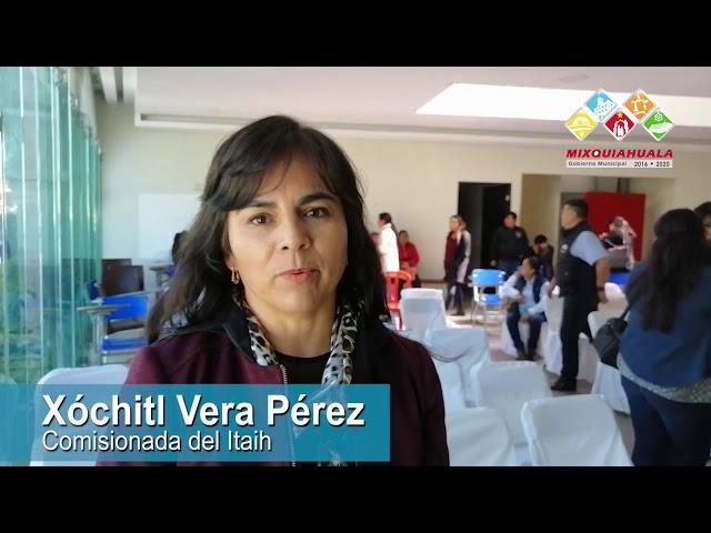 COMISIONADA DEL ITAIH RECONOCIÓ A MIXQUIAHUALA COMO UN REFERENTE EN MATERIA DE TRANSPARENCIA