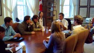 Canadian Youth Delegation Meets With Canadian Environment Minister Jim Prentice