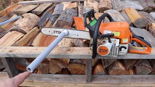 Stupid-Easy $1.00 CHAINSAW HACK That'll SAVE YOUR BACK