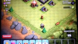Clash of clans farming (town hall8) raid