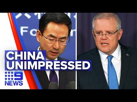 Coronavirus: China dissatisfied over Australia's call for COVID investigation   Nine News Australia