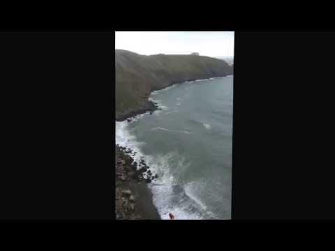 Howth Irish Coast guard rescuing teenage cliff fall 5 April 2014
