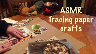 ASMR Crafts/Page turning of plastic sheet protectors (No talking) Super crinkly