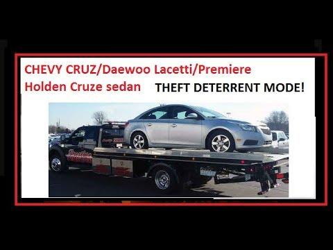 Chevy Cruze THEFT deterrent mode fix!