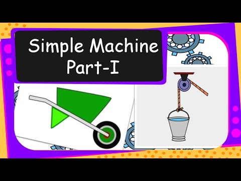 Science How Simple Machines Work Inclined Plane Wheel And Axle And Pulley English