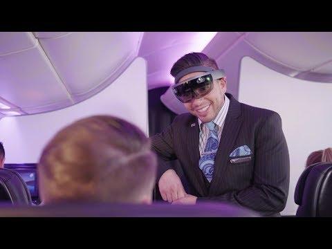 Microsoft HoloLens Inflight at Air New Zealand