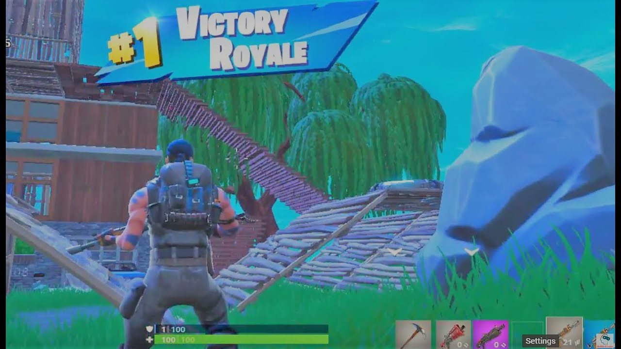 Fortnite Pc 720p With The Amd Hd 7560d Quad Core A8 5500 Youtube