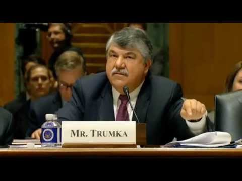 Richard Trumka Urges Senate to Deny Fast Track Authority for TPP