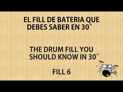 CLASES DE BATERÍA EN 30″ // DRUM LESSONS IN 30″ – FILL 6