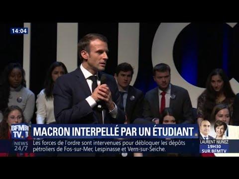 Macron interpellé par