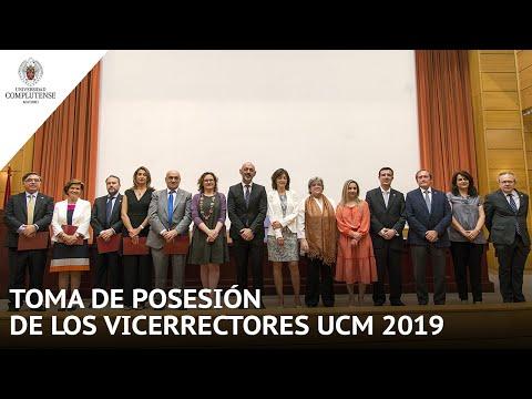 Acto De Toma De Posesión De Vicerrectores 2019 UCM