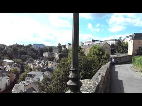 city of Luxembourg, the valley of Alzette river from Cornische area