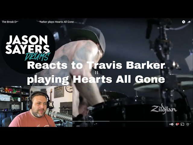 Drummer reacts to Travis Barker - Hearts All Gone - Blink 182