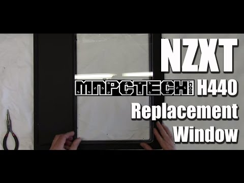 NZXT H440 Custom Replacement Window Install by mnpctech.com