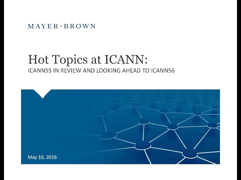 Webinar: Key Takeaways from ICANN 55