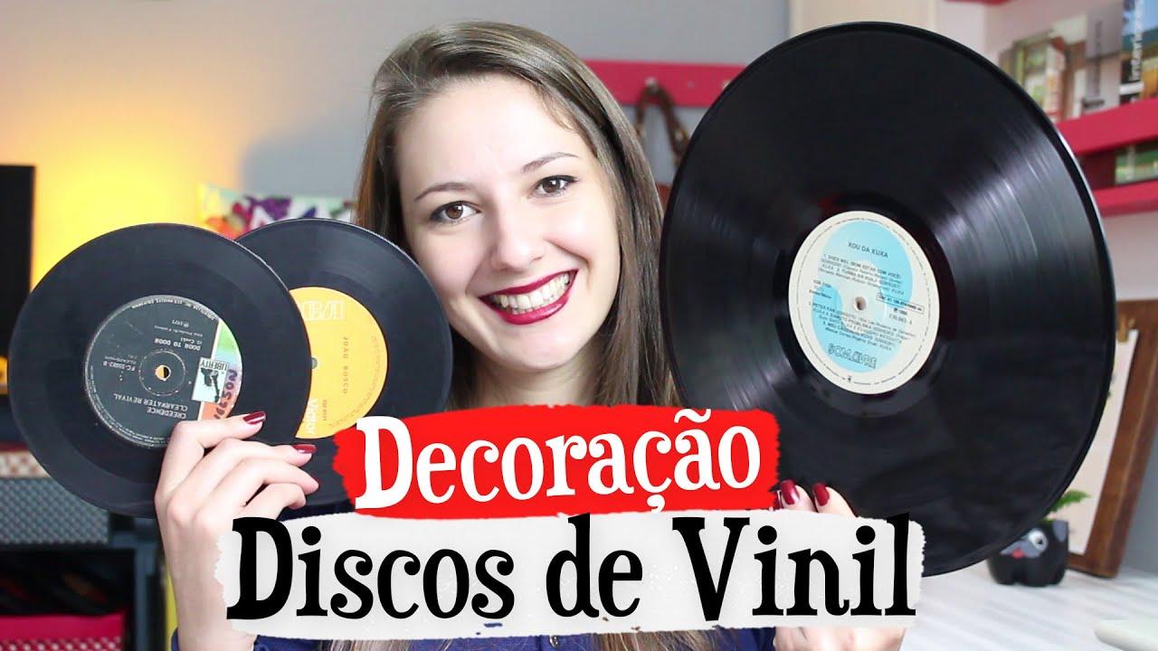 DIY 3 Decorações com DISCOS DE VINIL YouTube -> Decorar Com Discos De Vinil