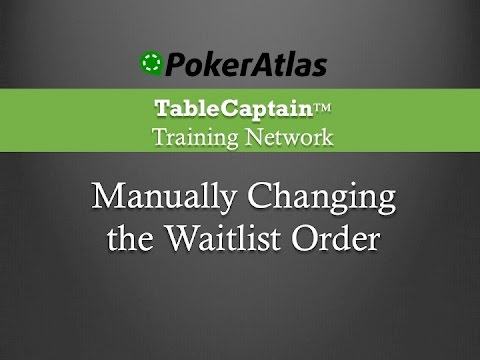 Adding a Player to a Waitlist - YouTube