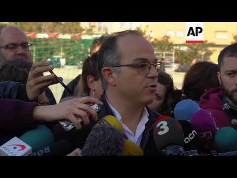 Junts per Catalunya candidate Jordi Turull votes in Barcelona