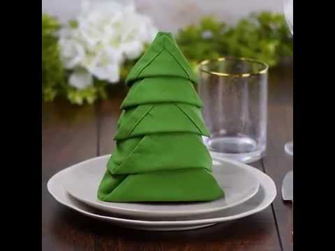 How To Fold Napkin Into Christmas Tree.10 Wow Worthy Napkin Folds That Belong On The Table