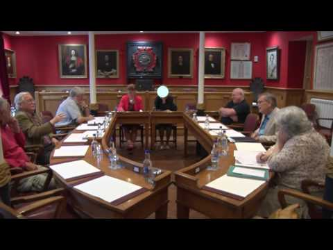 Town Council General Purposes Committee meeting in the Guild Hall Dartmouth 20/07/17