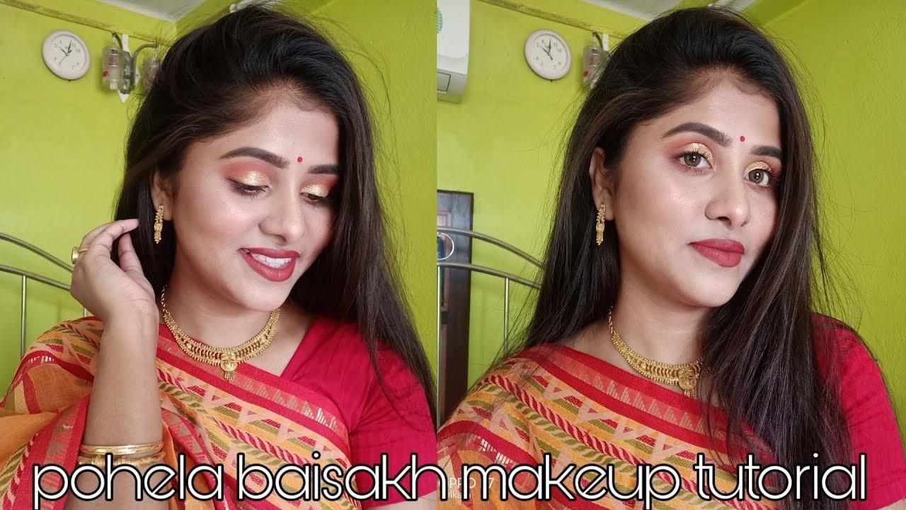 Pohela Baisakh Makeup Tutorial 2019 Bengali Makeup Tutorial